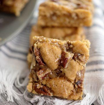 Salted Caramel and Pecan Sugar Cookie Bars?