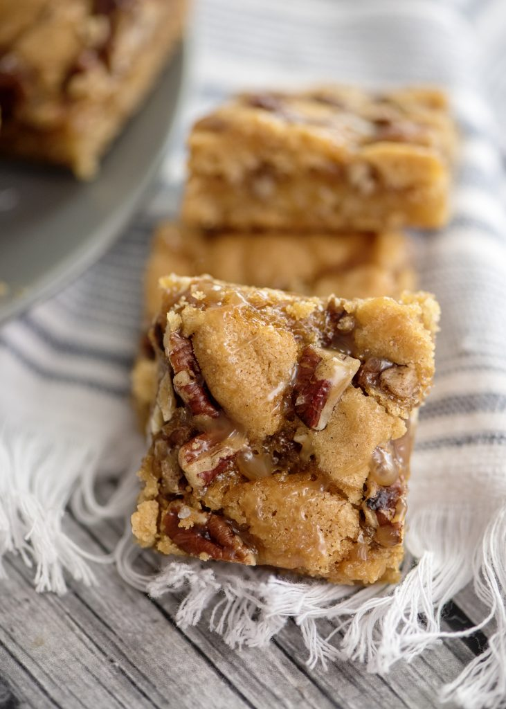 Salted Caramel and Pecan Sugar Cookie Bars?
