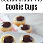 Boston Cream Pie Cookie Cups