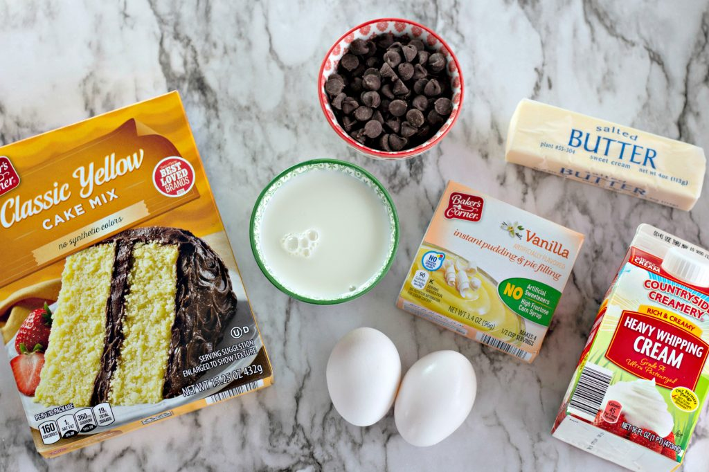 Boston Cream Pie Cookie Cup Ingredients